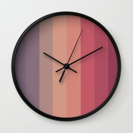 70s palette Wall Clock