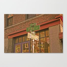 where the piano man plays Canvas Print