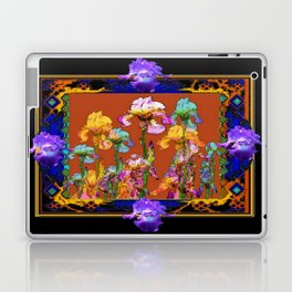 Richly Colored Italian Style Black Iris Art Laptop & iPad Skin