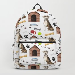 Catahoula Leopard Dog Half Drop Repeat Pattern Backpack