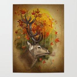 Oh, Deer! Autumn Poster