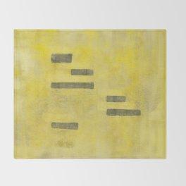 Stasis Gray & Gold 3 Throw Blanket
