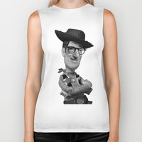 woody Biker Tanks featuring Woody by Eric Siv