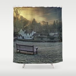 Loose Hill And Chequers Shower Curtain