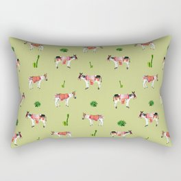 donkeys and cactuses Rectangular Pillow