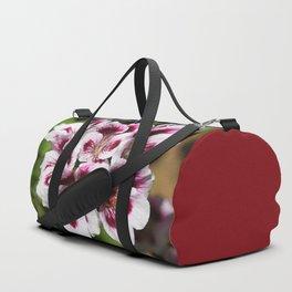 Purple Geraniums Flowers Duffle Bag