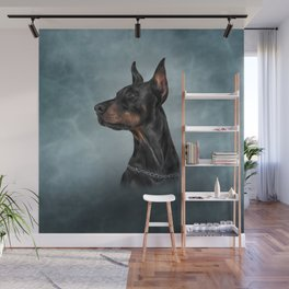 Drawing Doberman dog  6 Wall Mural