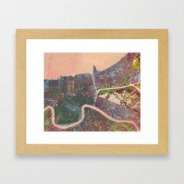 A Map of Vibrant New Orleans Framed Art Print