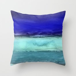 Midnight Waves Seascape Throw Pillow