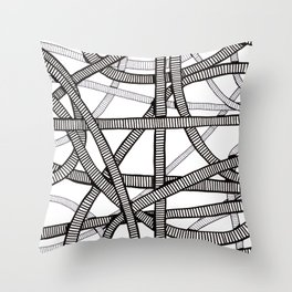 Pipes and Stripes Throw Pillow