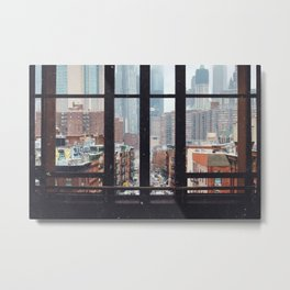 New York City Window Metal Print
