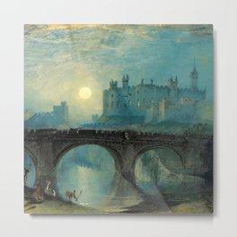 "J.M.W. Turner ""Alnwick Castle, Northumberland"" Metal Print"