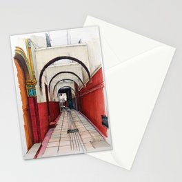 Red lane of Rabat Morroco Stationery Cards