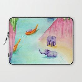 Thailand Travel Poster Laptop Sleeve