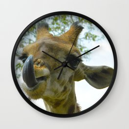Africa's French Kiss Wall Clock