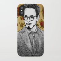 robert downey jr iPhone & iPod Cases featuring ROBERT DOWNEY JR by FISHNONES