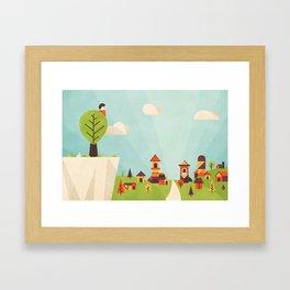 Zacchaeus (by Dominic Flask) Framed Art Print