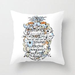 Yes, I'm a Feminist! by Fanitsa Petrou Throw Pillow