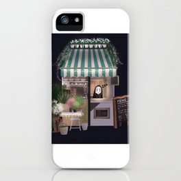 Flower Shop with Kaonashi iPhone Case