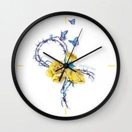 Ribbon   Endometriosis awareness Wall Clock