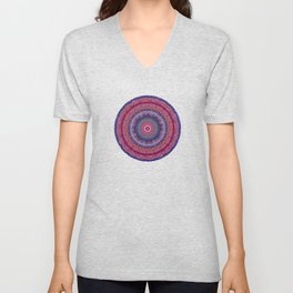 Colorful Agate Mandala Unisex V-Neck