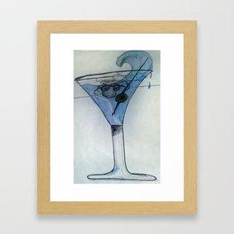 martini Mo cartoon Framed Art Print