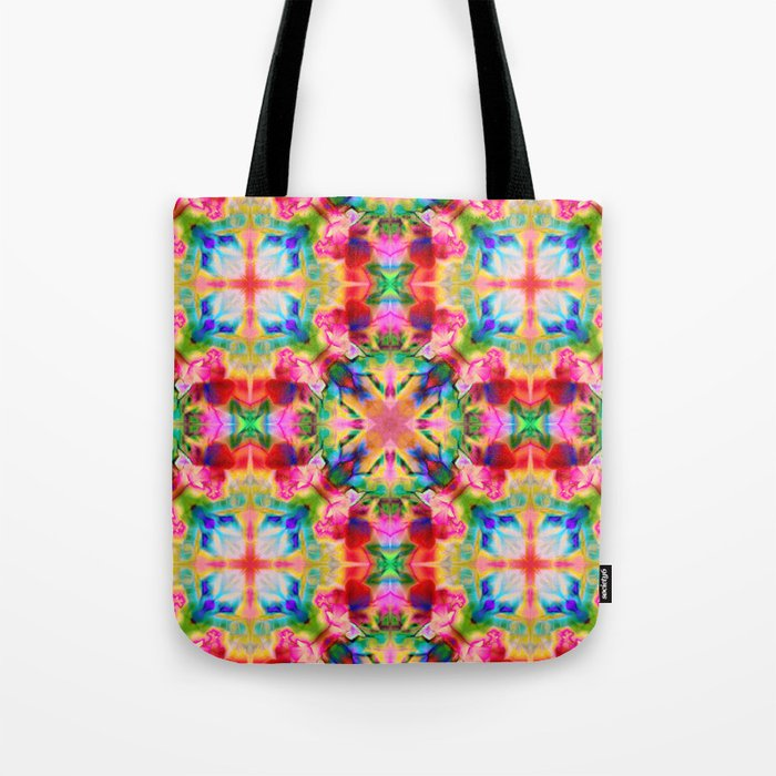 Colors of the kaleidoscope. Colorful ornament. Tote Bag