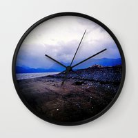 homer Wall Clocks featuring Homer Spit  by Julia Blanchette