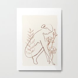 Soft Line Design 02 Metal Print