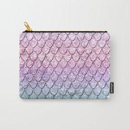 Mermaid Scales on Unicorn Girls Glitter #1 #shiny #pastel #decor #art #society6 Carry-All Pouch