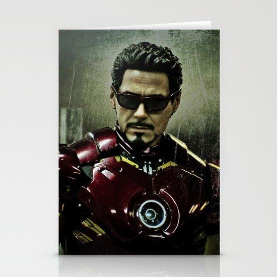 Tony Stark in Iron man costume  Stationery Cards