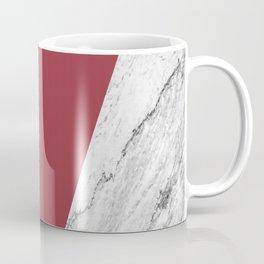 Marble Jester Red Geometry Coffee Mug