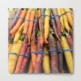 Carrot of many colors - Heritage Vegetables bloom! Metal Print
