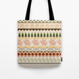 Autumn Cabin Sweater Pattern Tote Bag
