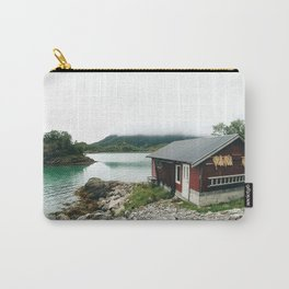 Fisher man house in Norway Carry-All Pouch