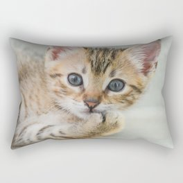 Smirking kitten Rectangular Pillow