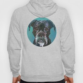 Sable the Black Boxer Dog Hoody