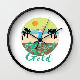A Great & peaceful mind with a very kind Heart for a valued goodness expression allude Heart of gold Wall Clock