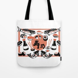 Sushi And Soy Sauce Tote Bag