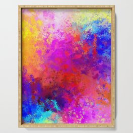 Colorful Splatter Serving Tray