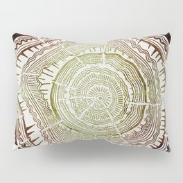 Tree Rings – Watercolor Ombre Pillow Sham