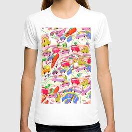 Kiddie Cars Pattern T-shirt