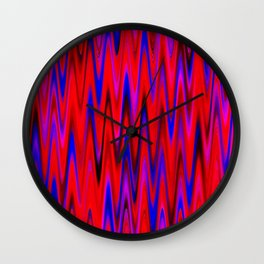 WAVY #1 (Reds, Blues & Fuchsias) Wall Clock