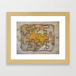 yellow puzzle Framed Art Print