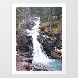 My Ranier Waterfall Art Print