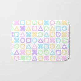 A weird game of pastel tic tac toe Bath Mat