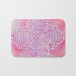 bright and sizzling lace star Bath Mat