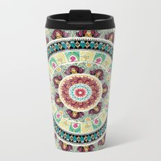 Sloth Yoga Medallion Metal Travel Mug