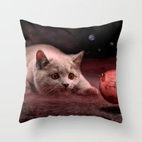 bruno mars Throw Pillows featuring Mouse on Mars by teddynash