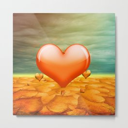 Heartrain Metal Print
